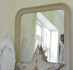 Fransk spegel, gräddvit 60 * 90 cm