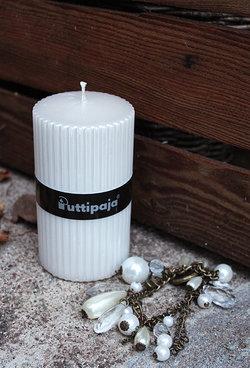 Kynttilä, valkoinen helmiäinen
